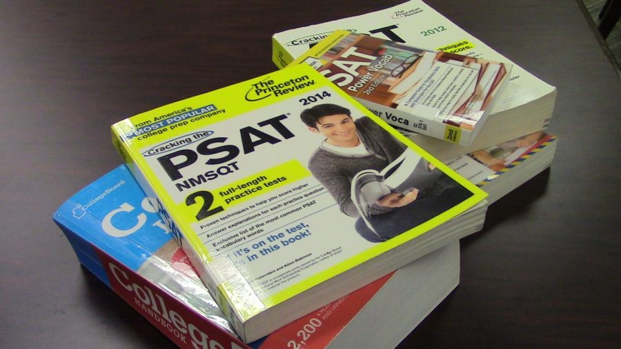 These+are+some+of+the+books+that+students+can+use+to+study+for+the+SAT+and+ACT.+